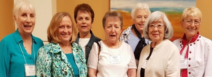 The women of AAUW of New Mexico were warm and welcoming hosts, to our Utah group of Claire Turner, Kathy Boyer ,Georgette Kapos, Gloria Prahl, Kathy Horvat, Jeanette Misaka, and Marilyn Shearer. (left to right in the picture)