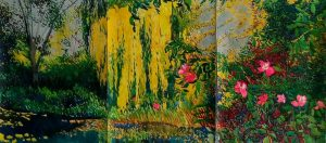 Nancy Olson, Yellow Water Garden, Water Color